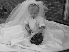 Another idea from pinterest.. My daughter in my wedding dress