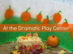An invitation to play at the dramatic play center from Teach Preschool