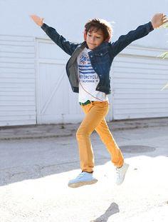 #Pantalón #jeans de #niño #amarillo #colores