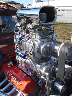 Twin superchargers and look at the name on valve cover. Hehe :)