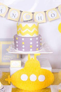 Yellow Submarine themed birthday party