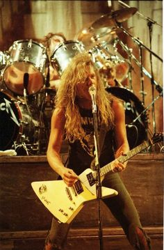 James Hetfield. (Before he became a sellout)