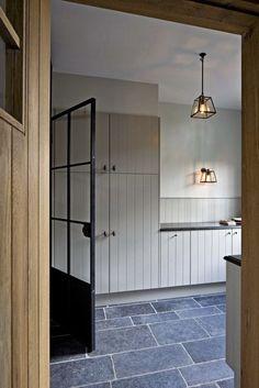 Grey garage door rugs 20 Ideas for 2019 Grey Garage Doors, Küchen Design, House Design, Tongue And Groove Walls, Farmhouse Kitchen Island, Kitchen Grey, Kitchen Country, Kitchen Walls, Kitchen Units