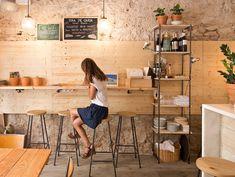 Bar But en Barcelona Architectural Digest, Arch Interior, Interior Design, Cafe Floor Plan, Cofee Shop, Cafe Shop Design, Cafe Seating, Nutrition Club, News Cafe