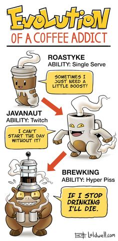 H. Caldwell Tanner of Loldwell maps out the Pokémon-inspired evolution of a coffee addict.