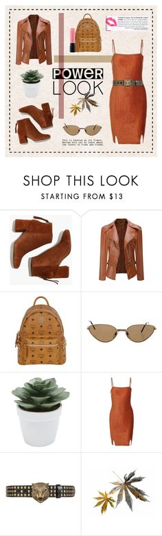 """MY 2018 SIGNATURE LOOK"" by mars-sixieme ❤ liked on Polyvore featuring Madewell, MCM, Cartier, M&Co, Gucci and MAC Cosmetics"