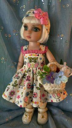 dress-head-band-May-Day-flower-basket-fits-10-inch-Ann-Estelle-Patsy-BJD