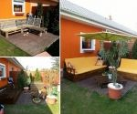 Fan Tamás Korcsmáros sent us some photos of his outdoor pallet furniture.  Thumbs up? Let us know by sharing, liking, and commenting.
