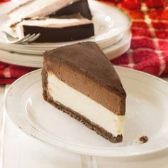 Cheesecake with Chocolate Mousse by Winnie