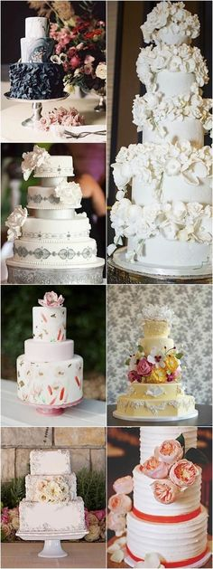 Stunning wedding cake ideas / http://www.himisspuff.com/beautiful-wedding-cakes-for-your-wedding/7/