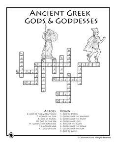 Greek Mythology Worksheets Greek Mythology Word Search