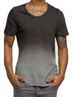 Religion Clothing T-Shirt Delancy in Black/White