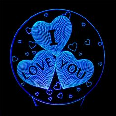 Acrylic lamp Love I Love You, My Love, Bright Lights, Led Strip, Love Heart, Save Energy, Different Colors, Illusions, Clock