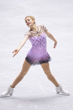 Gracie Gold of The United States  free program  2013/2014 NHK Trophy, Purple Figure Skating / Ice Skating dress inspiration for Sk8 Gr8 Designs.  Designed by Action Fabrics.
