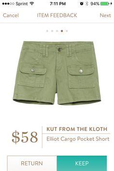 Kut from the Kloth Elliot Cargo Pocket Short!