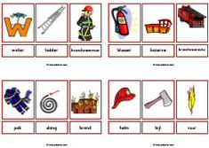 awesome print sheets, but transfer to english Preschool Lessons, Preschool Worksheets, Learn Dutch, Fireman Party, Block Center, School Items, Fire Safety, Fire Engine, Firefighter
