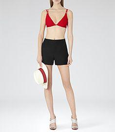 Womens Red Bikini Top - Reiss Tigra T