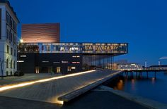 The New Royal Playhouse on the Copenhagen harbor designed by Danish firm Lundgaard and Tranberg Arkitekter