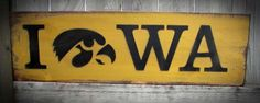 Iowa Hawkeye Wood Sign with Tigerhawk - Father's Day Gift, College, Christmas…