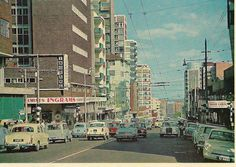 Ingrams Corner, Edith Cavell Street, Hillbrow, looking south. Good Old Times, The Good Old Days, Old Pictures, Old Photos, Johannesburg City, Third World Countries, Historical Pictures, African History, Live