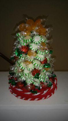 Small hard candy xmas tree