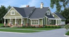 Introducing one of our newest craftsman #farmhouses featuring 1,976 s.f. of first floor living with a 333 s.f second floor bonus space. Take a look at this new #houseplan by clicking here: http://www.thehousedesigners.com/plan/stunning-craftsman-9358/