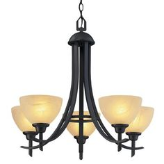 Hampton Bay - 26 in. Chandelier, Old Weathered Bronze Finish - - Home Depot Canada Contemporary Chandelier, Building A House, Building Ideas, Bronze Finish, Hanging Lights, Glass Shades, The Hamptons, Light Fixtures, Indoor