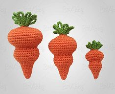 Whether you're in need of some cute little carrots to spice up your Easter decorations, use as a photo prop, or any other random thing you might use a crochet carrot for, this is the pattern for you!