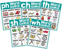Posters for teaching phonics...love how bright they are. I'm going to print them as large posters and display them.