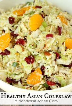 This Asian Coleslaw has a bright dressing that brings everything together with savory Asian seasonings. It is the perfect summer side dish for BBQ etc. paleo dinner for a crowd Side Dishes For Bbq, Summer Side Dishes, Side Dish Recipes, Asian Recipes, Vegetable Recipes, Vegetarian Recipes, Cooking Recipes, Healthy Recipes, Chef Recipes