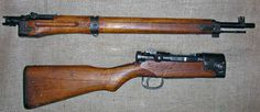 Arisaka Type 2 Paratroop Rifle - The Type 2 Paratroop rifle is basically a take-down version of the Type 99 Arisaka rifle. It fires the 7.7mm X 58 Arisaka cartridge.
