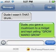 Funniest Drunk Text Messages