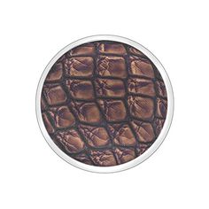 EMOZIONI Jewelry 25mm Faux Dark Brown Crocodile Coin