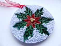 quilled xmas decoration
