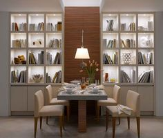 bookcases and storage, LED lighting