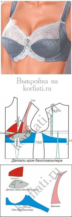Bra pattern from Anastasia Korfiati Underwear Pattern, Lingerie Patterns, Dress Sewing Patterns, Clothing Patterns, Pattern Sewing, Sewing Bras, Sewing Lingerie, Sewing Clothes, Ropa Interior Boxers
