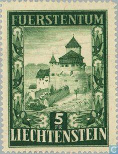 Stamps - Liechtenstein - Vaduz Castle 1952
