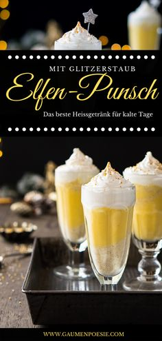 Elven punch with glitter dust The ultimate hot drink with eggnog. Perfect for the Christmas season and all other cold days! Smoker Recipes, Grilling Recipes, Crockpot Recipes, Cupcake Recipes, Dessert Recipes, Dessert Diet, Punch, Glitter Dust, Vegetable Drinks