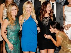 With Trista Sutter and Emily Maynard looking on, Former Bachelorette Jillian Harris smooched the baby bump of pregnant Bachelor star Molly Malaney Mesnick at Warner Bros.' Winter TCA party — celebrating 25 seasons of the Bachelor franchise! -- at The Bachelor Mansion in Agoura Hills, Calif. Jan. 11.