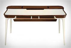 Das passende Schreibtisch Design für Ihr modernes Büro - tisch design minimalistisch weiß holz schublade