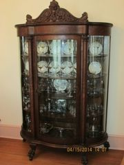 One Kings Lane - Weird to Wonderful - Bow-Front Glass Curio ...
