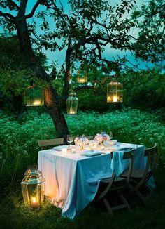 Intimate Night Garden Wedding Ideas