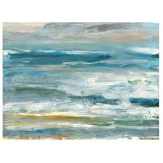 Coastal Colors Horizontal Canvas Art Print ($70) ❤ liked on Polyvore featuring home, home decor, wall art, coastal wall art, coastal home decor, ocean canvas wall art, canvas wall art and ocean wall art