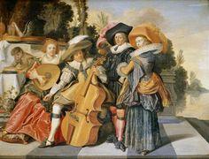 Dirck Hals (Дирк Халс, 1591-1656, Dutch Baroque Era painter).