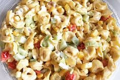 Tortellini-Salat - New Site Best Pasta Salad, Tortellini Salad, Diet Recipes, Snack Recipes, Cooking Recipes, Party Snacks, Appetizers For Party, Macaroni And Cheese, Food And Drink