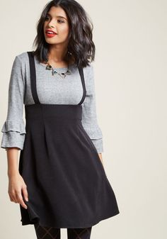 Pioneer a series of groundbreaking looks with this black jumper from our ModCloth namesake label, and a wave of accolades will await you! Award-winning...