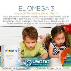 Biomega Jr. Llegó a Colombia. Deliciosa ráfaga de ácidos grasos omega-3 para ayudar al crecimiento y desarrollo saludable. BiOmega Jr. de USANA ofrece una cantidad saludable de ácidos grasos omega-3, ácido eicosapentanoico (EPA) y ácido docosahexaenoico (DHA), además de vitamina D, en un gel cremoso sabor a crema de naranja. Consíguenos a través de un distribuidor independiente Usana.