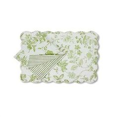 placemats and napkins | ... Green Toile Quilted Placemats - Napkins and... | review | Kaboodle