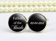Father of the Bride Cufflinks-Wedding Cuff by cufflinkworlds