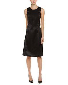 Pink Tartan Satin Daria Black Dress